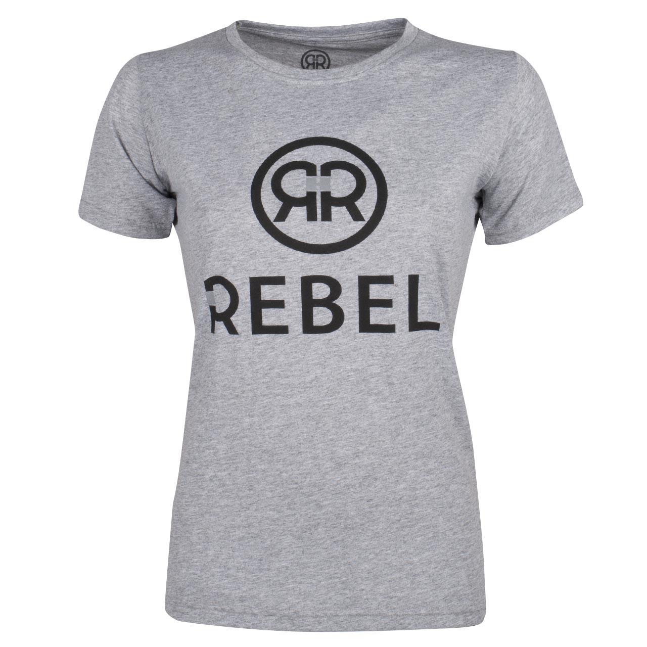 Rebel Zoey tshirt grijs maat:xs
