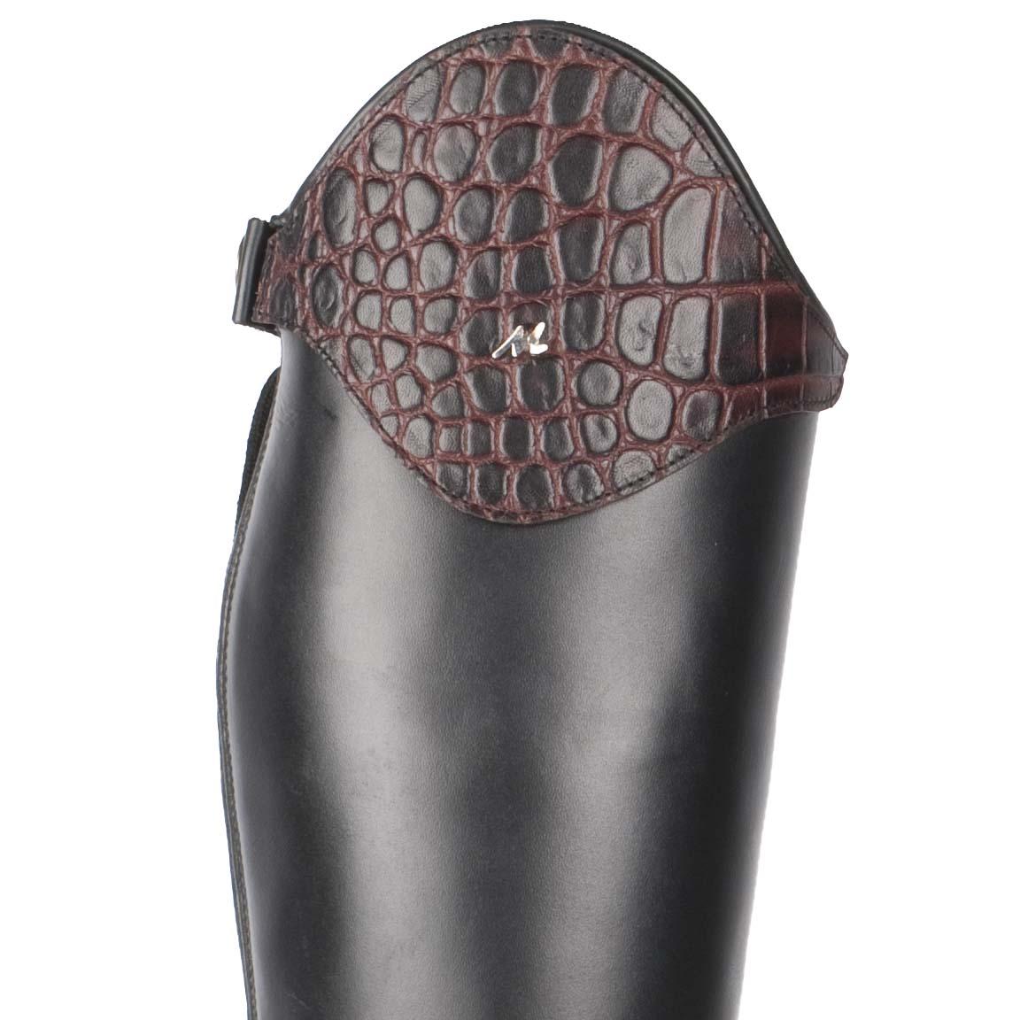 Mondoni Arundel top croco donkerbruin maat:37
