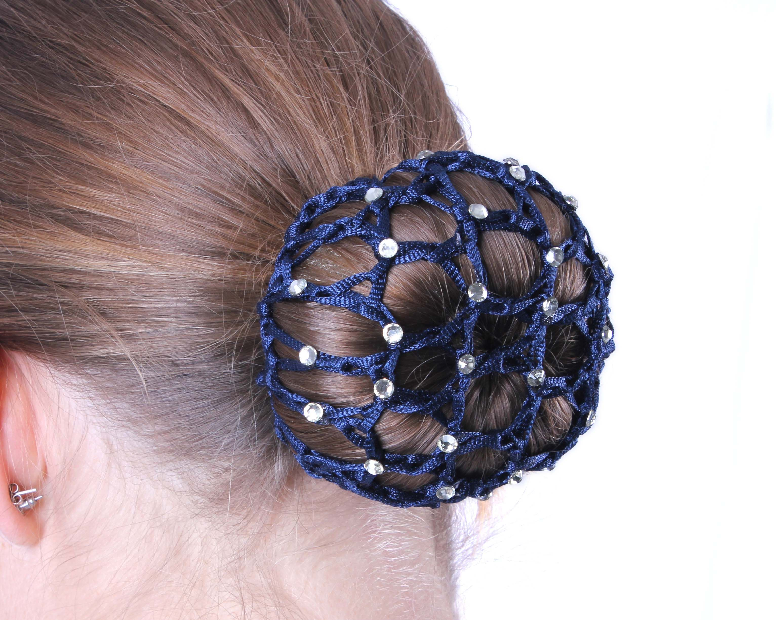 QHP Haarnetje Diamond blauw