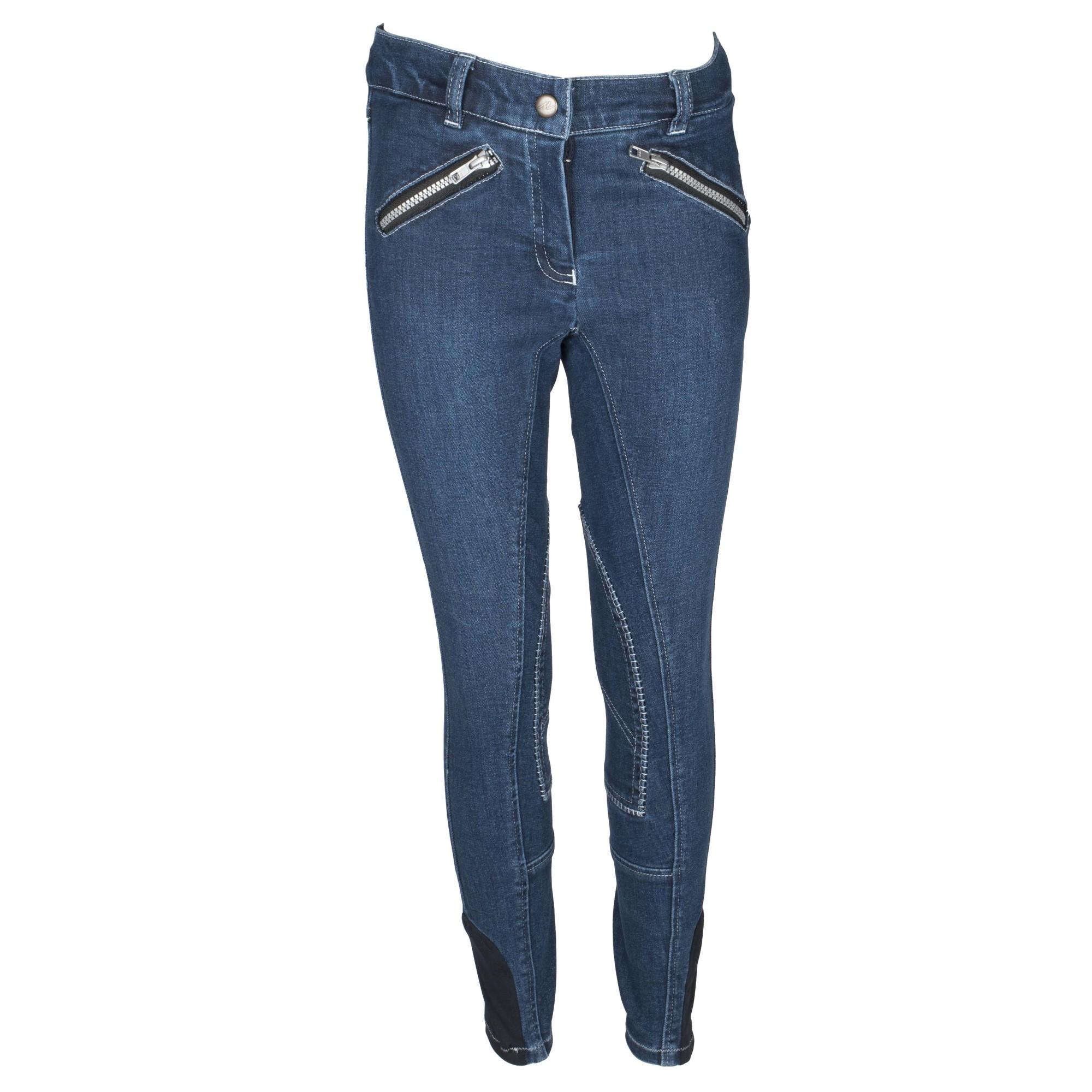Mondoni Jeans kinder rijbroek jeans maat:128