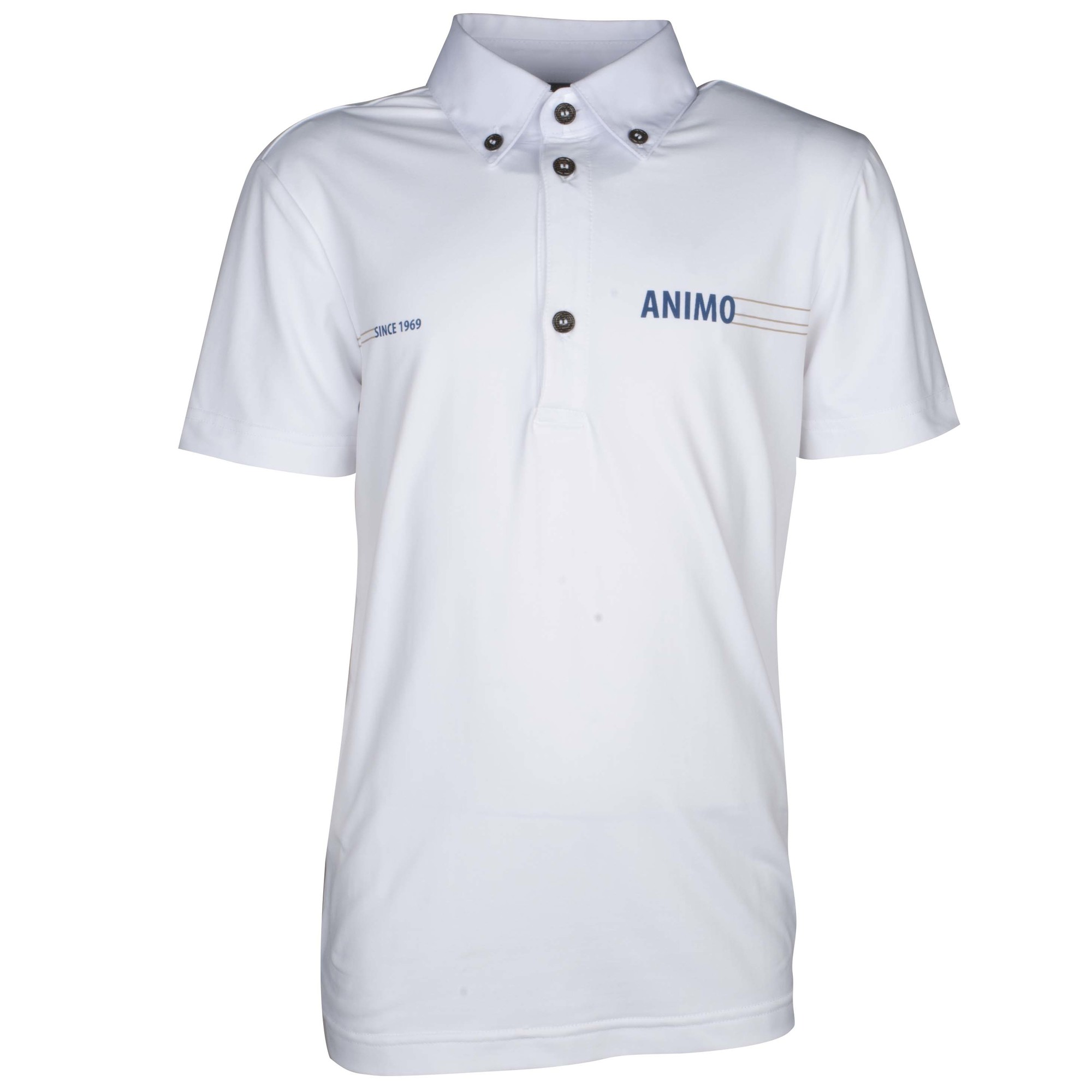 Animo Amilka kinder wedstrijdshirt wit maat:140