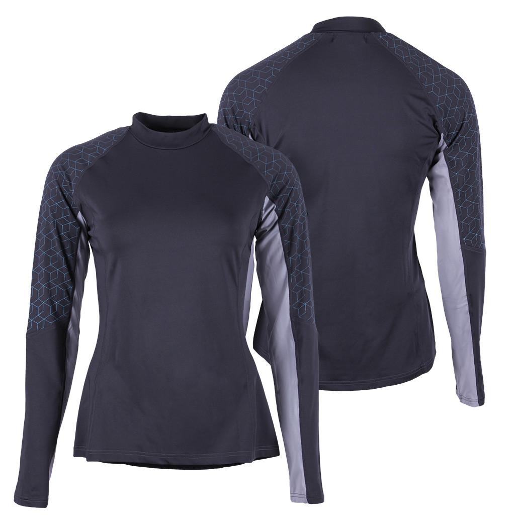 QHP QCross Eldorado techshirt donkergrijs maat:34