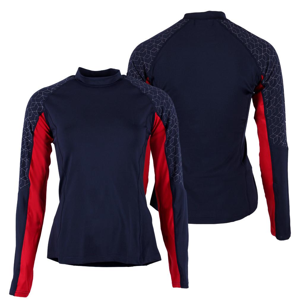 QHP QCross Eldorado kinder techshirt donkerblauw maat:176