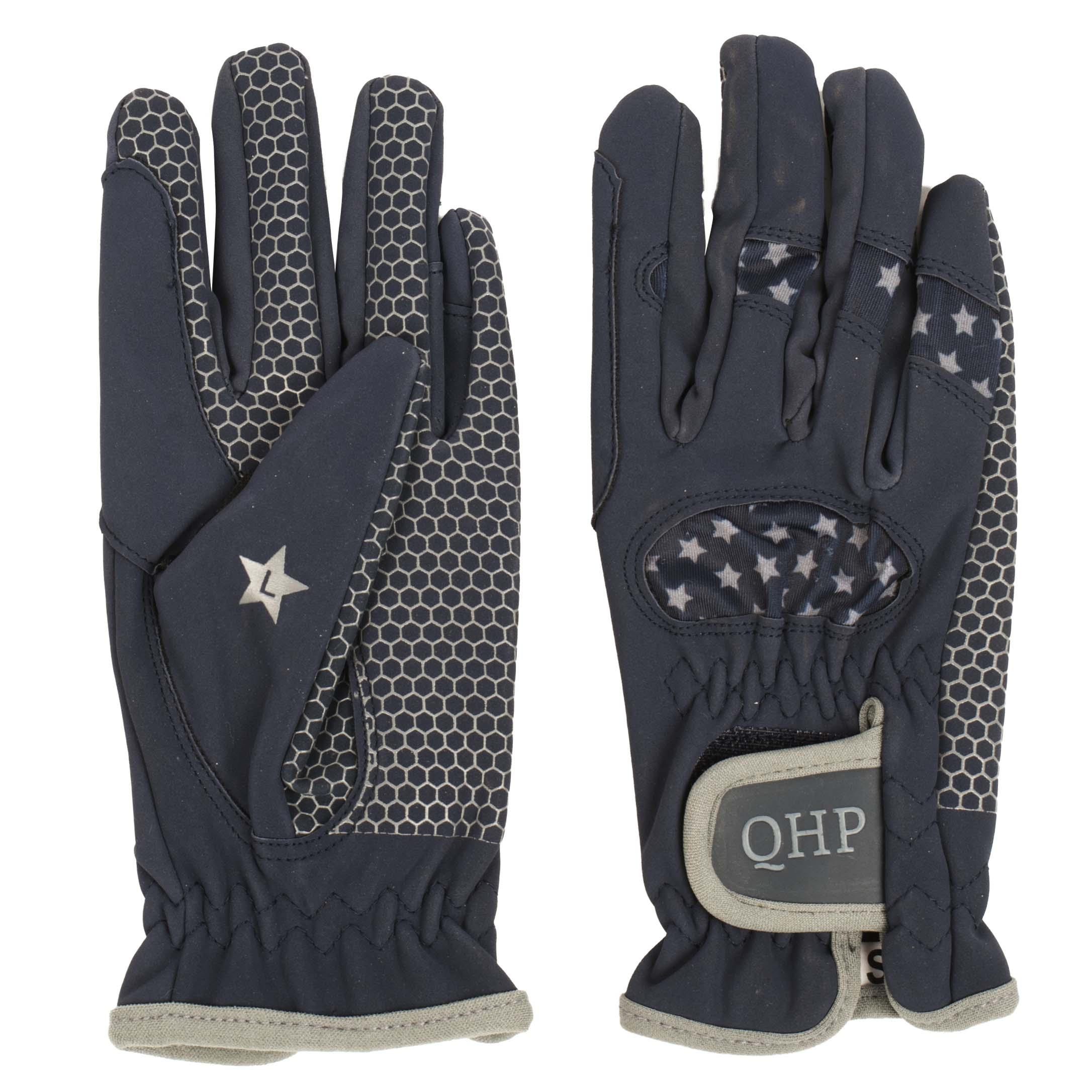 QHP Multi Star kinder handschoenen donkerblauw maat:2