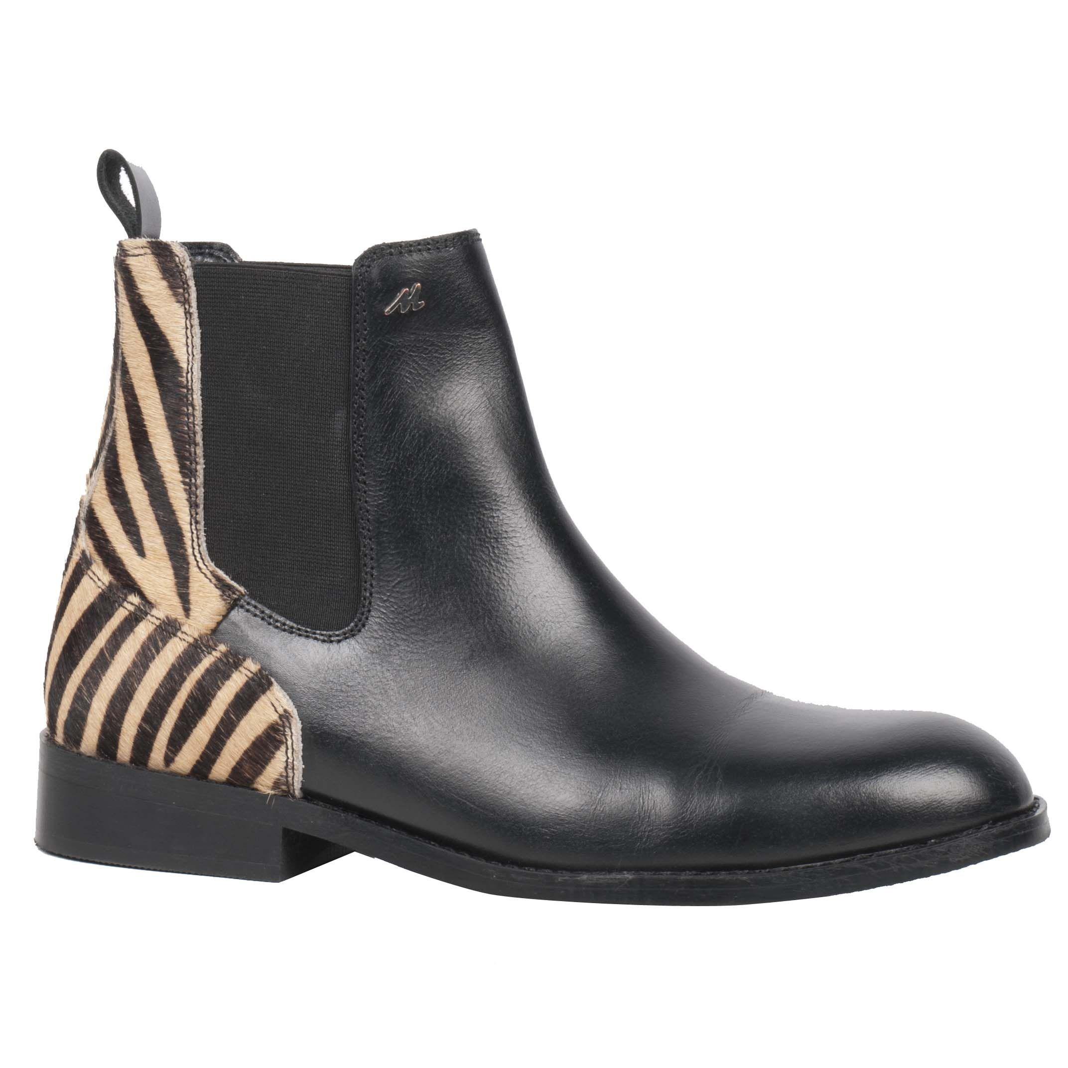 Mondoni Zebra jodhpur zwart maat:37