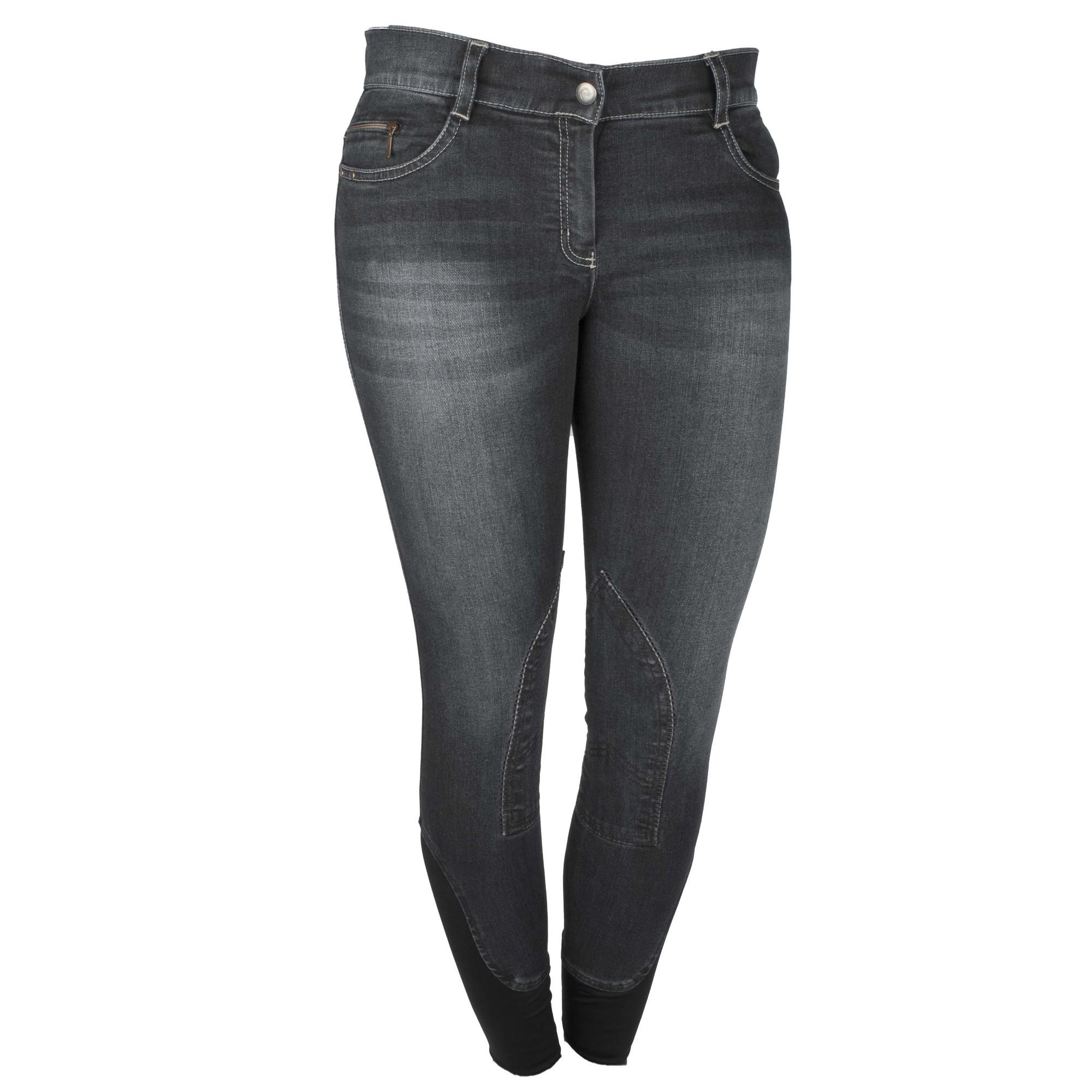 Equitheme Texas jeans rijbroek zwart maat:38