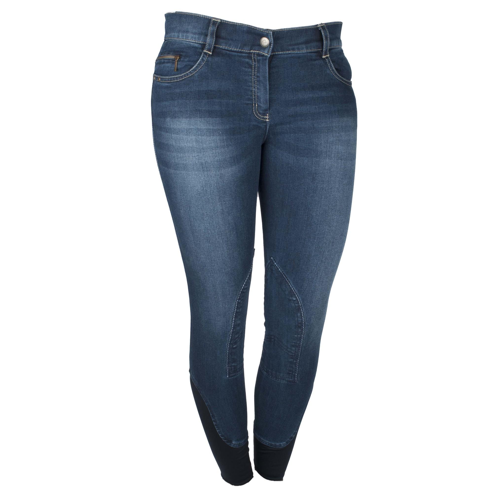 Equitheme Texas jeans rijbroek donkerblauw maat:40