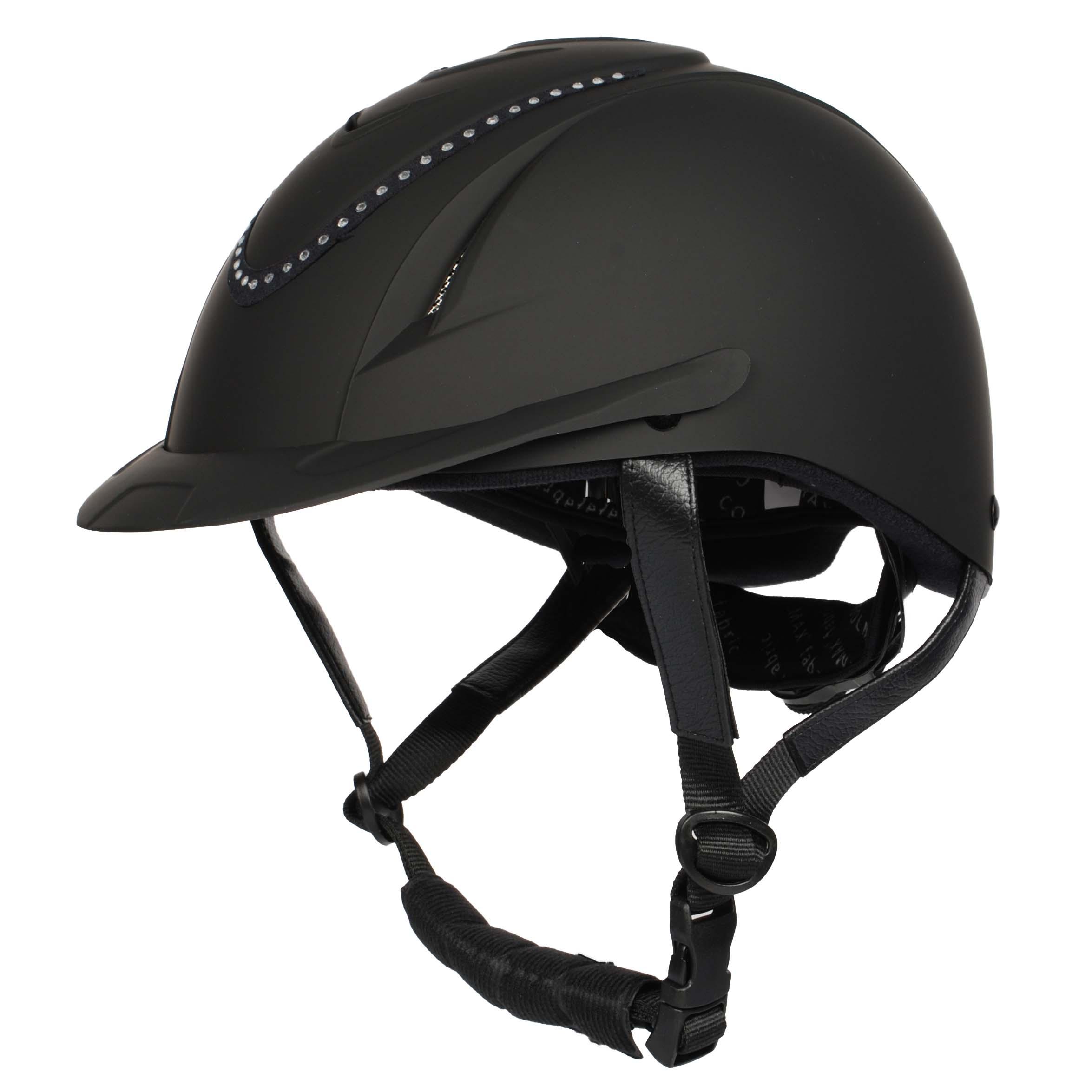 Harrys Horse Chinook Crystal cap zwart maat:s-m