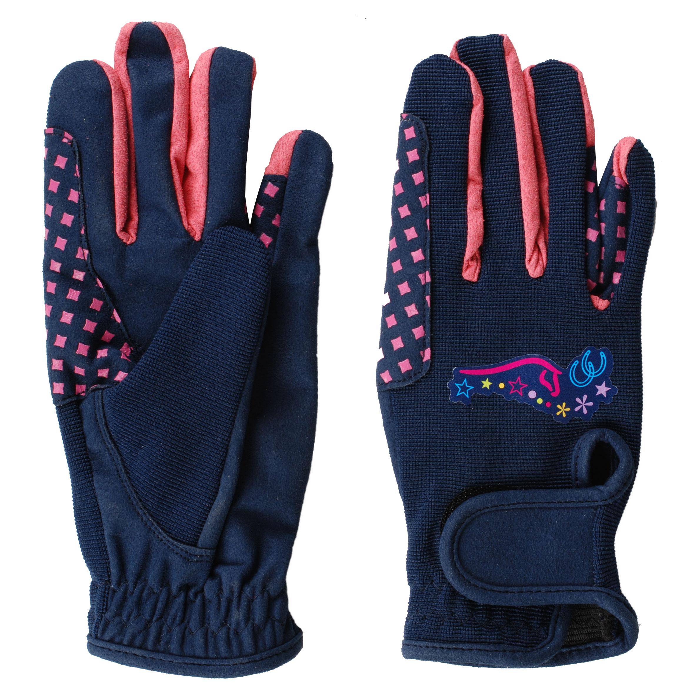 Mondoni Heartstrings kinder handschoenen donkerblauw maat:128
