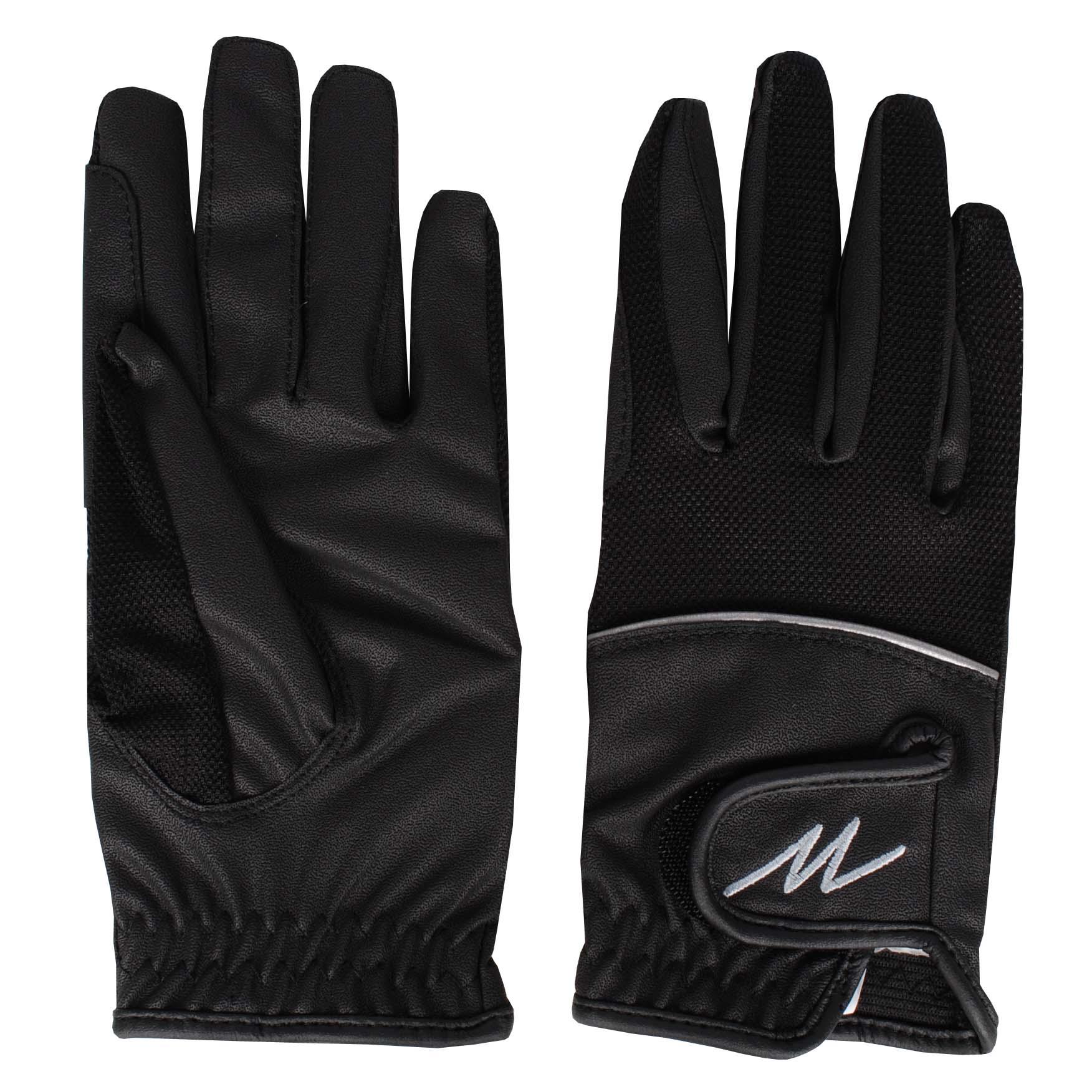 Mondoni Mendoza handschoenen zwart maat:m