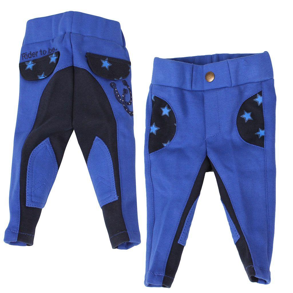 QHP Mickey rijbroek blauw maat:104