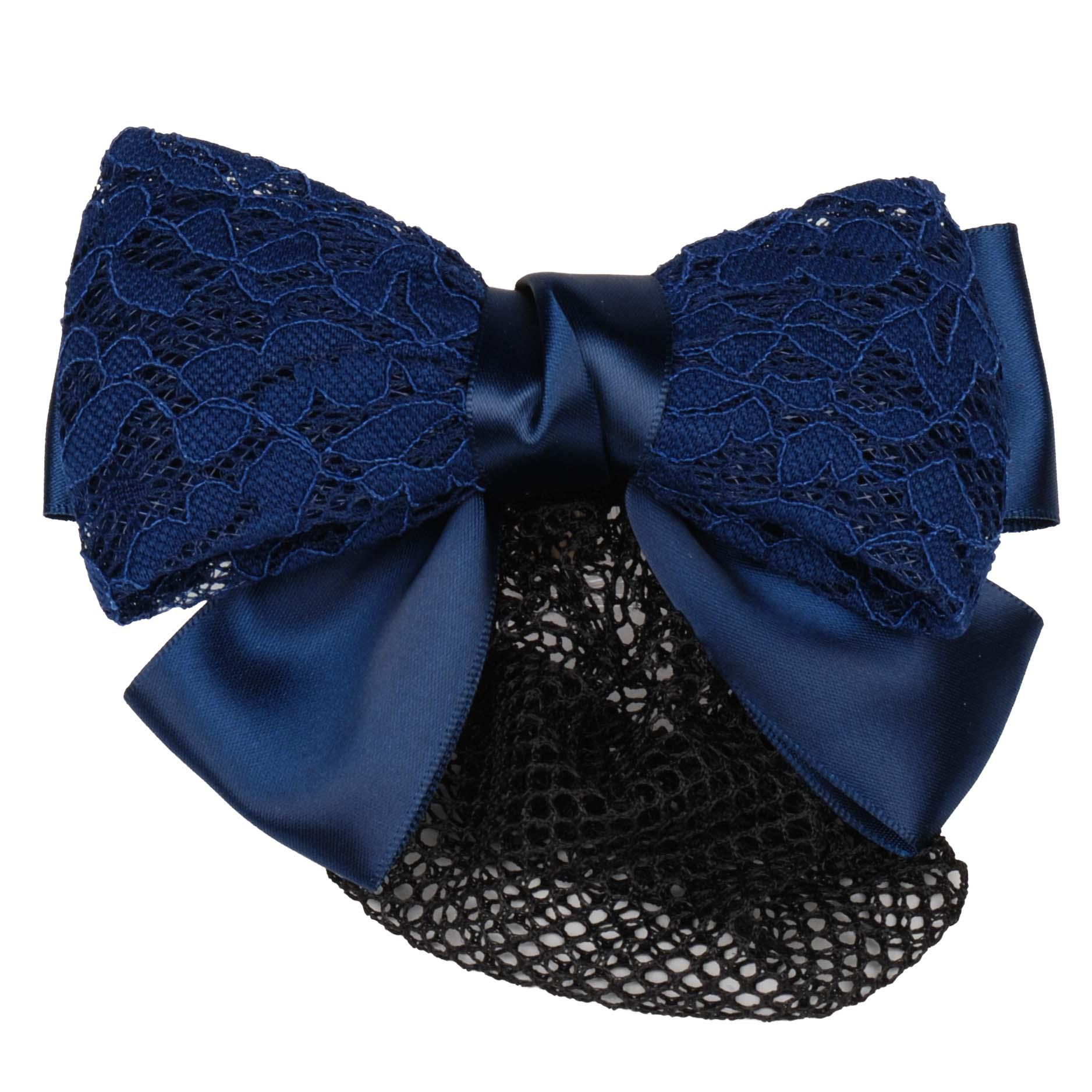 QHP Lace haarstrik donkerblauw