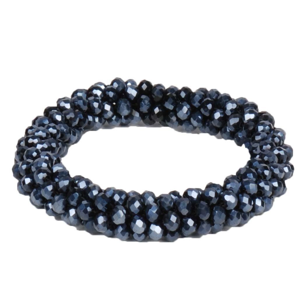 QHP Shine knotband donkerblauw