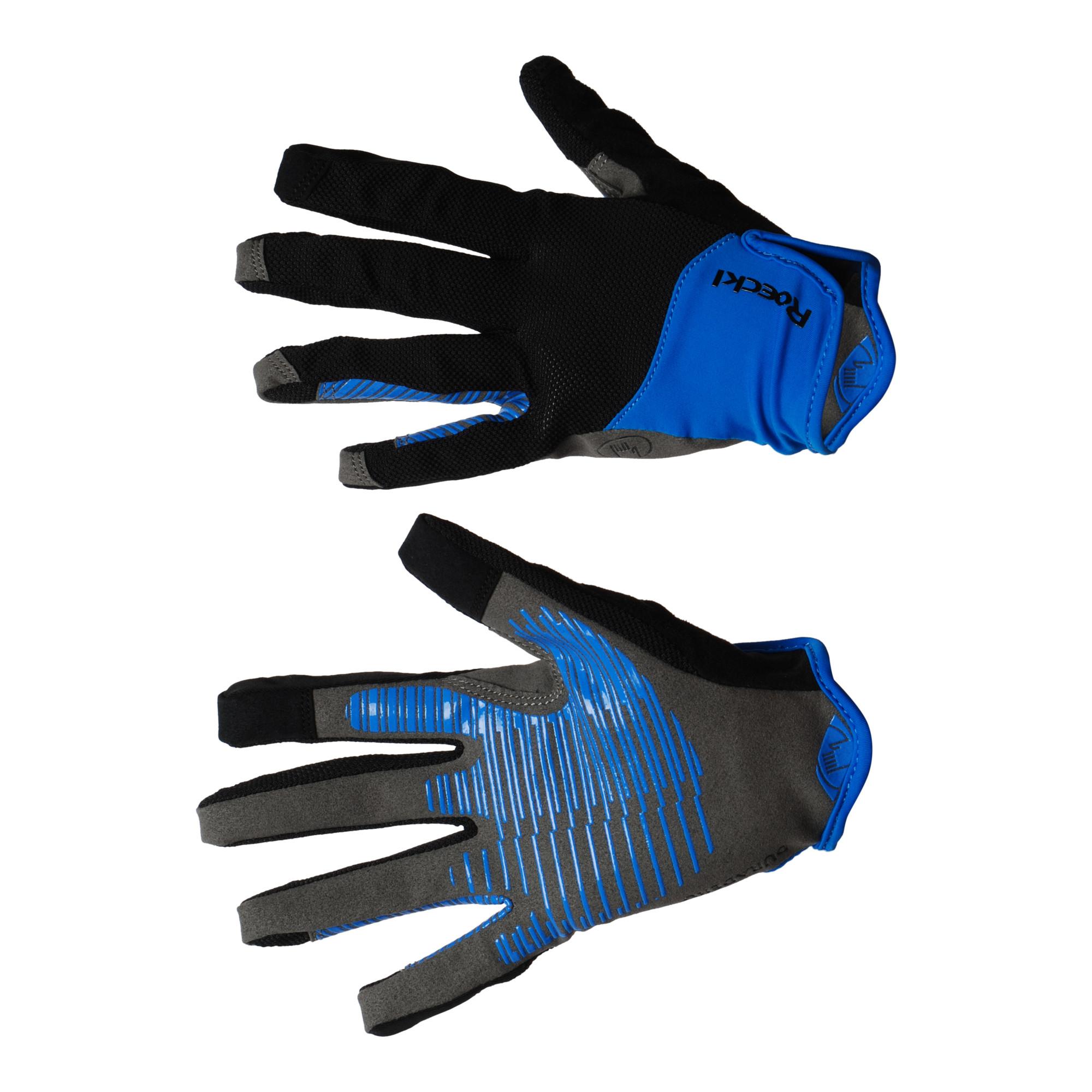 Roeckl Lynn handschoen zwart/blauw maat:8,5