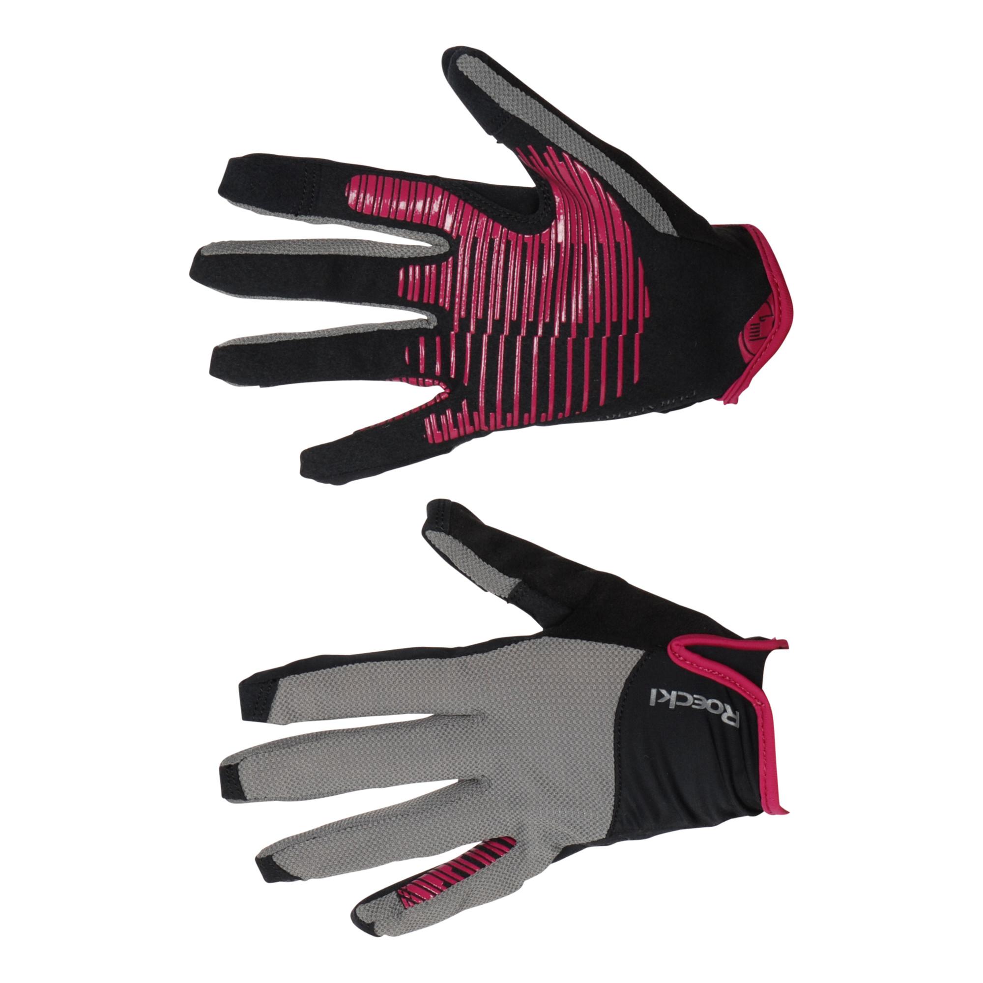 Roeckl Lynn handschoen zwart/grijs maat:7,5