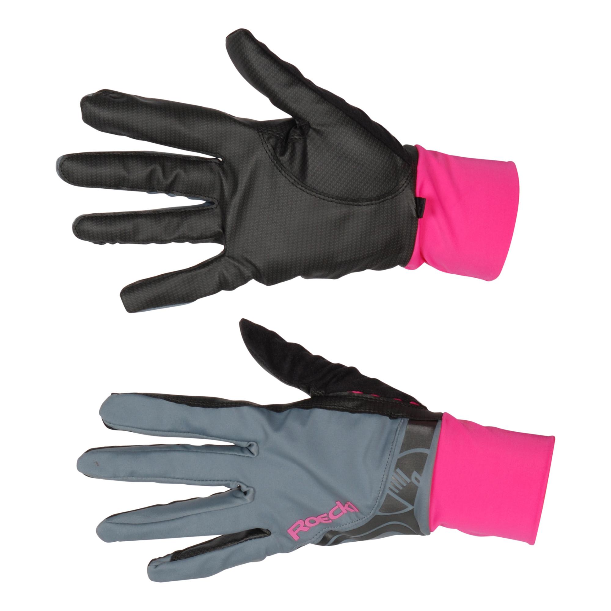 Roeckl Melbourne handschoen grijs maat:8,5