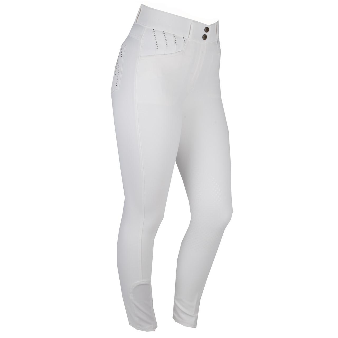 Mondoni Crystal high waist KG rijbroek wit maat:34