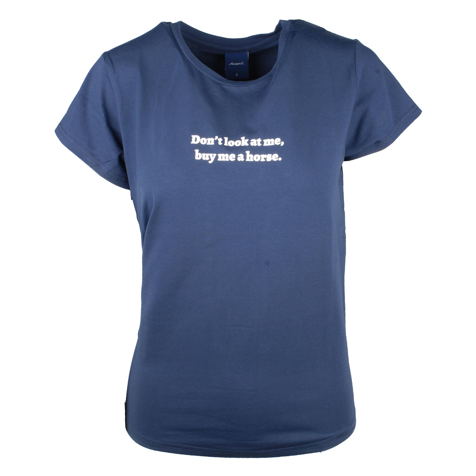 Mondoni Don't look t-shirt donkerblauw maat:xs