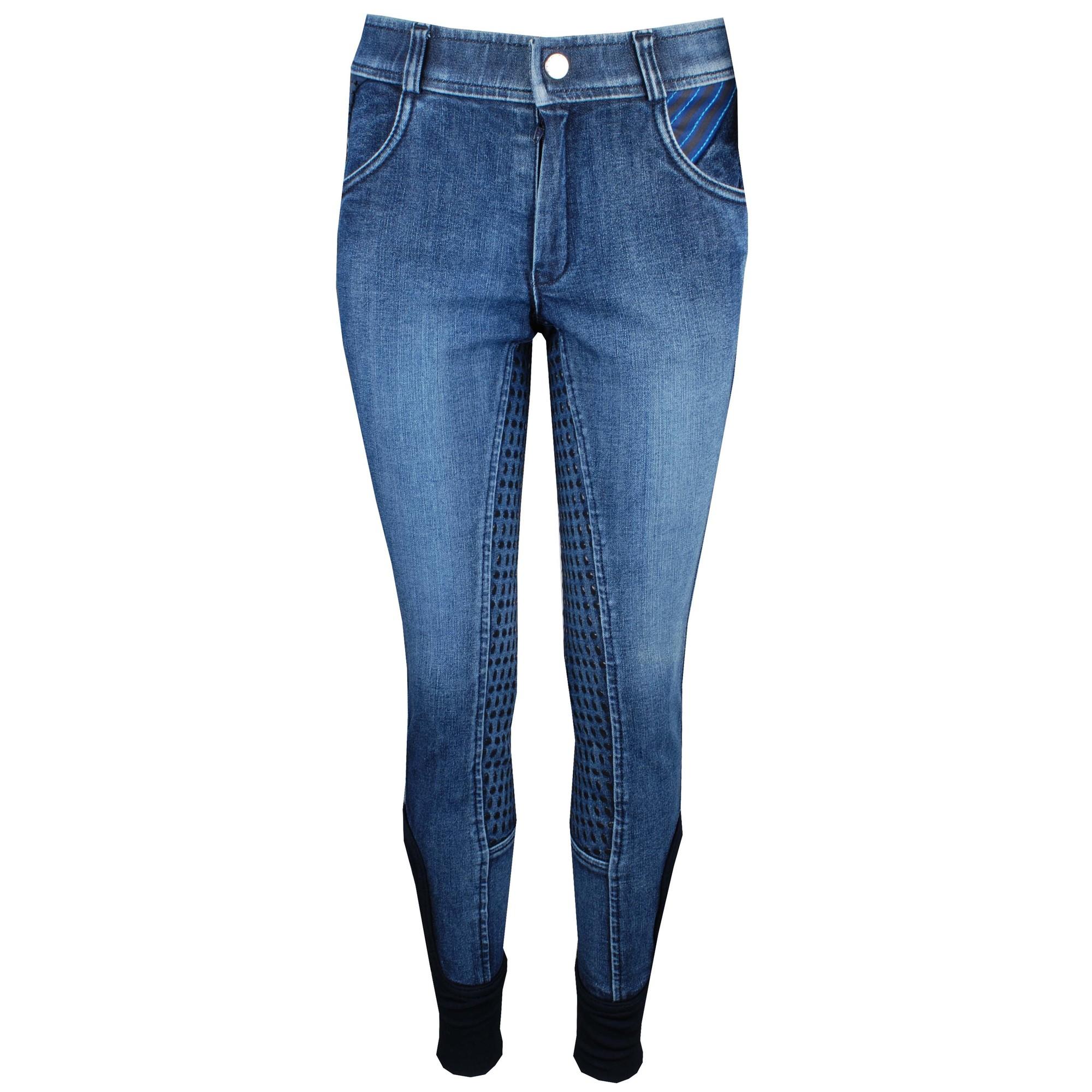 Harrys Horse Loulou Bowhill kinder rijbroek jeans maat:128