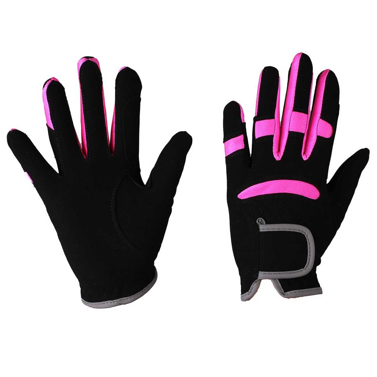 QHP Multi Color handschoenen zwart maat:s