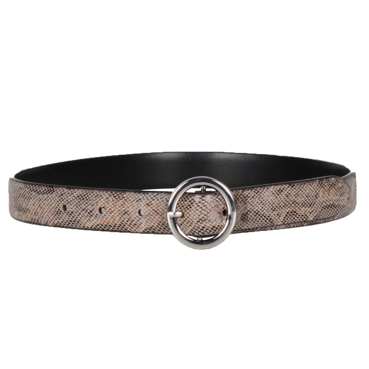 Mondoni Snake riem grijs maat:65