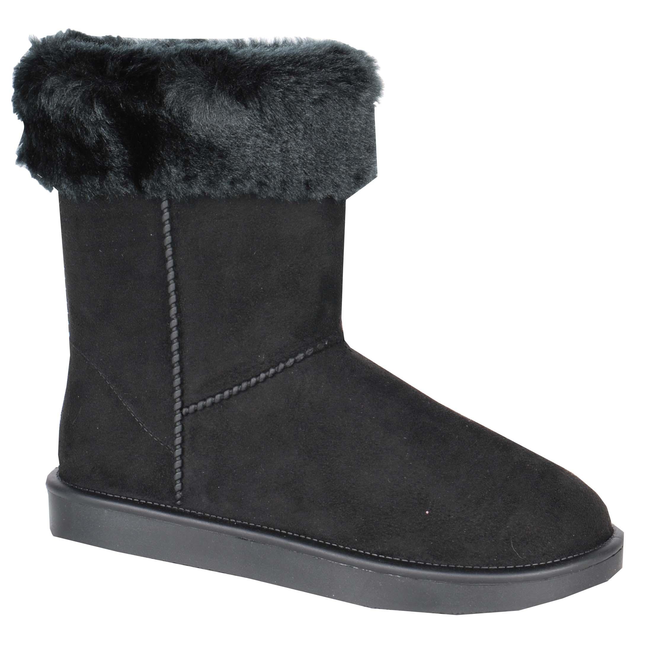 HKM Davos Fur vrijetijds laars zwart maat:36