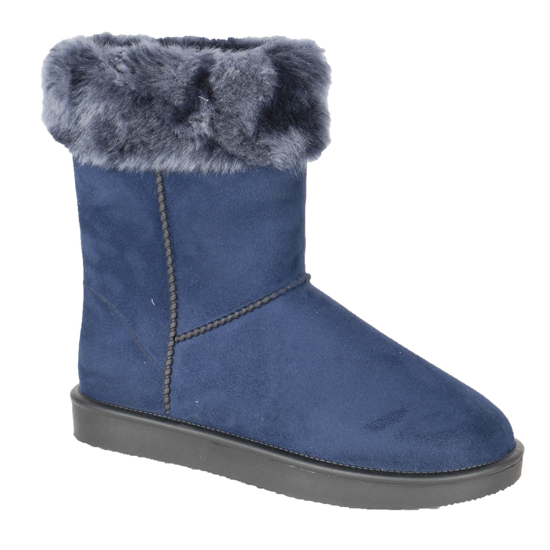 HKM Davos Fur vrijetijds laars donkerblauw maat:38