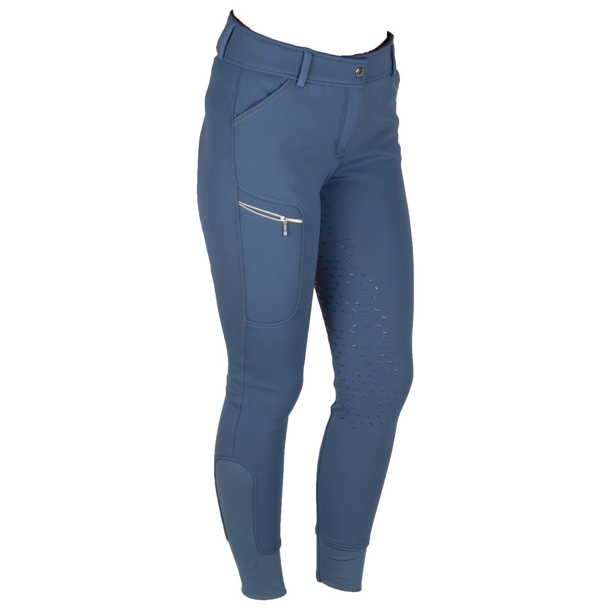 Covalliero Softshell rijbroek blauw maat:42