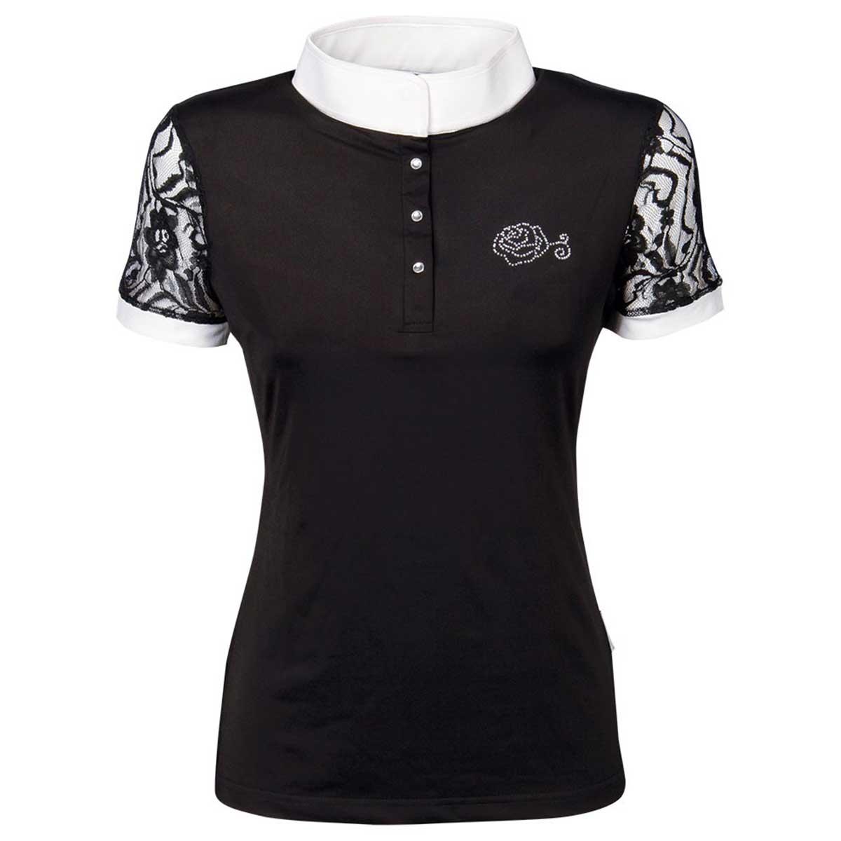 Harrys Horse Lace wedstrijdshirt zwart maat:xxs