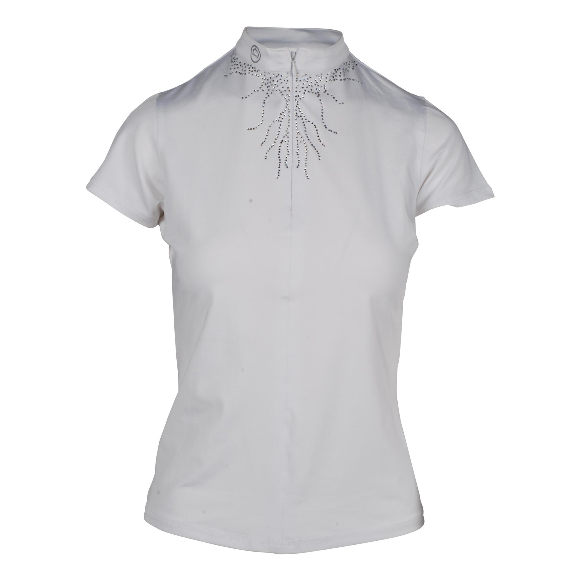 Montar Juliana wedstrijdshirt wit maat:xs