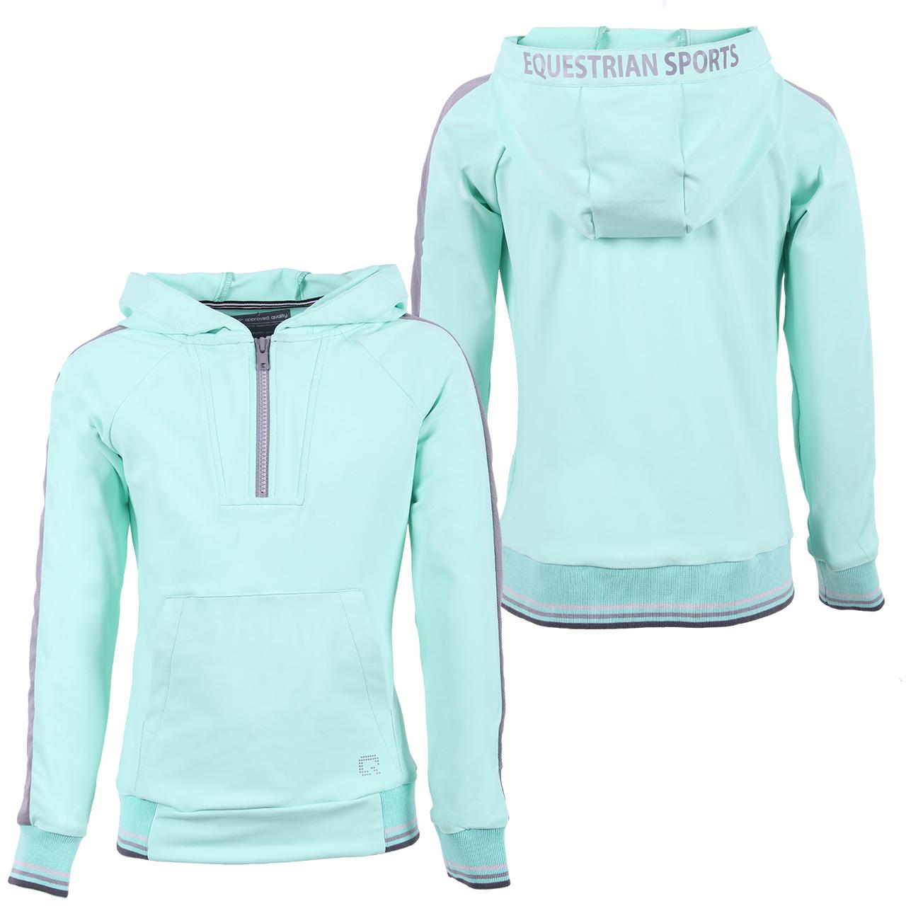 QHP Noleste kinder sweater mint maat:140