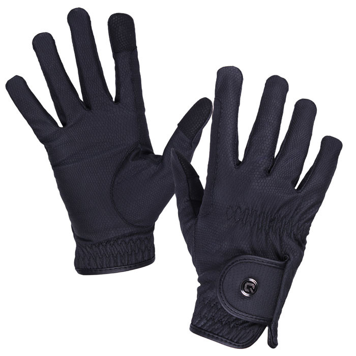 QHP Handschoen Force zwart maat:s