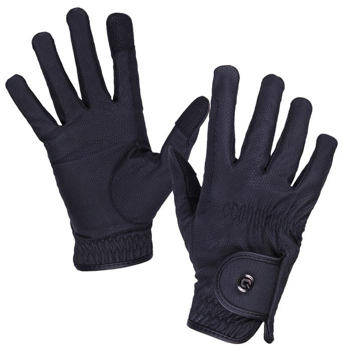 QHP Handschoen Force zwart maat:xs