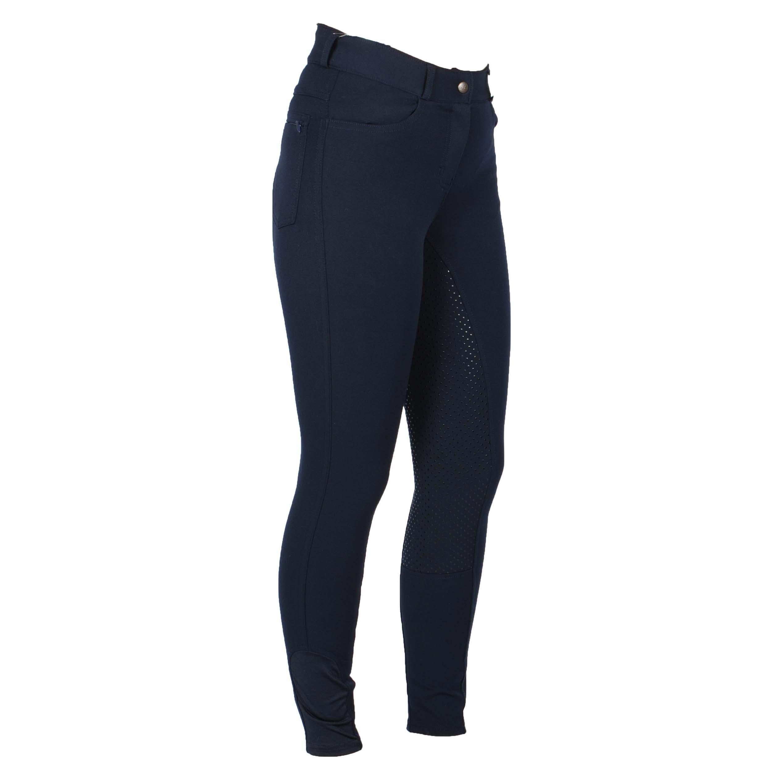 Mondoni Sada high waist full grip rijbroek donkerblauw maat:40