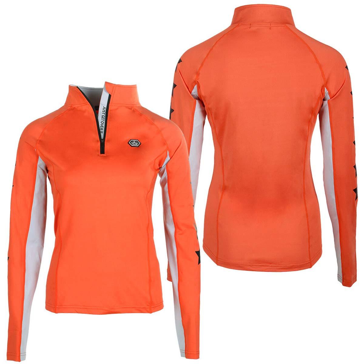 QHP QCross Vegas kinder techshirt oranje maat:164