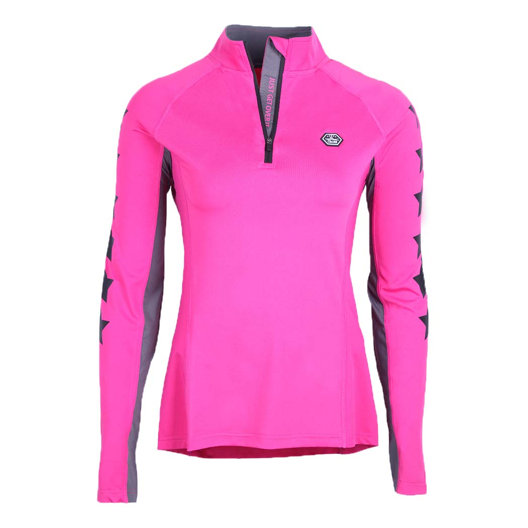 QHP QCross Vegas kinder techshirt roze maat:176