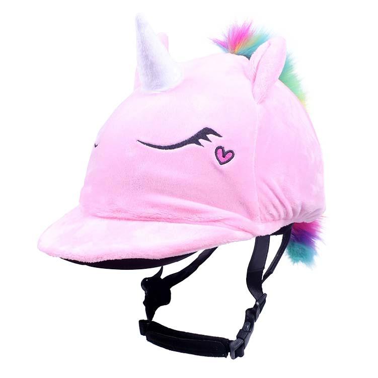QHP Eenhoorn cap cover roze maat:one size