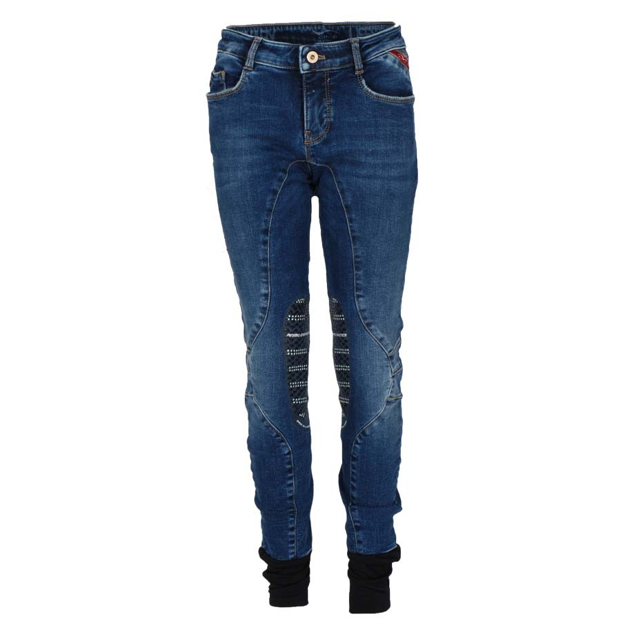 Animo Marvin kinder rijbroek jeans maat:140