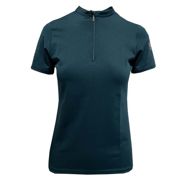 Mondoni Active kinder trainingsshirt korte mouw petrol maat:152