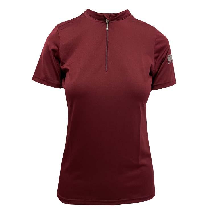 Mondoni Active kinder trainingsshirt korte mouw bordeaux maat:140