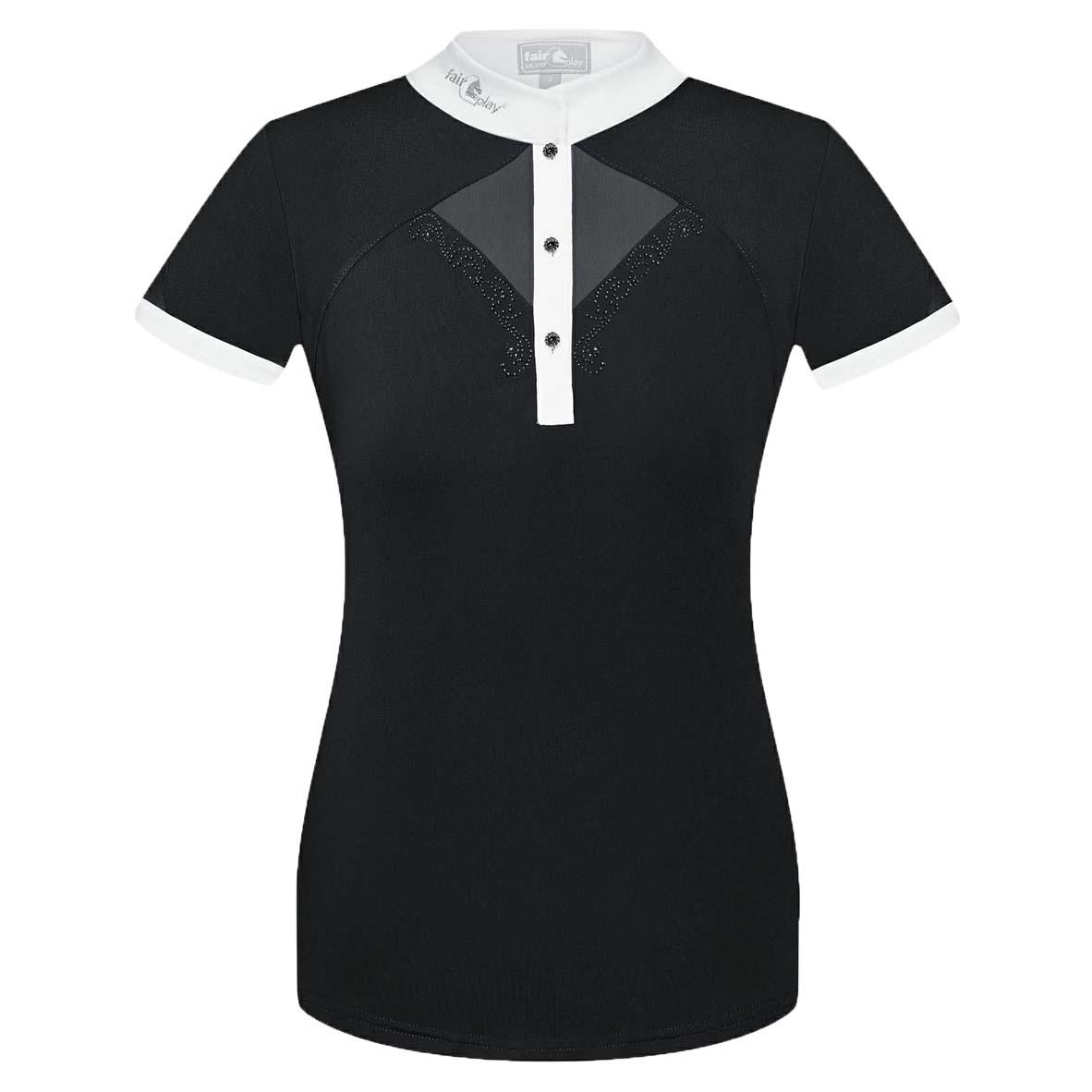 Fair Play Catharine wedstrijdshirt zwart maat:38