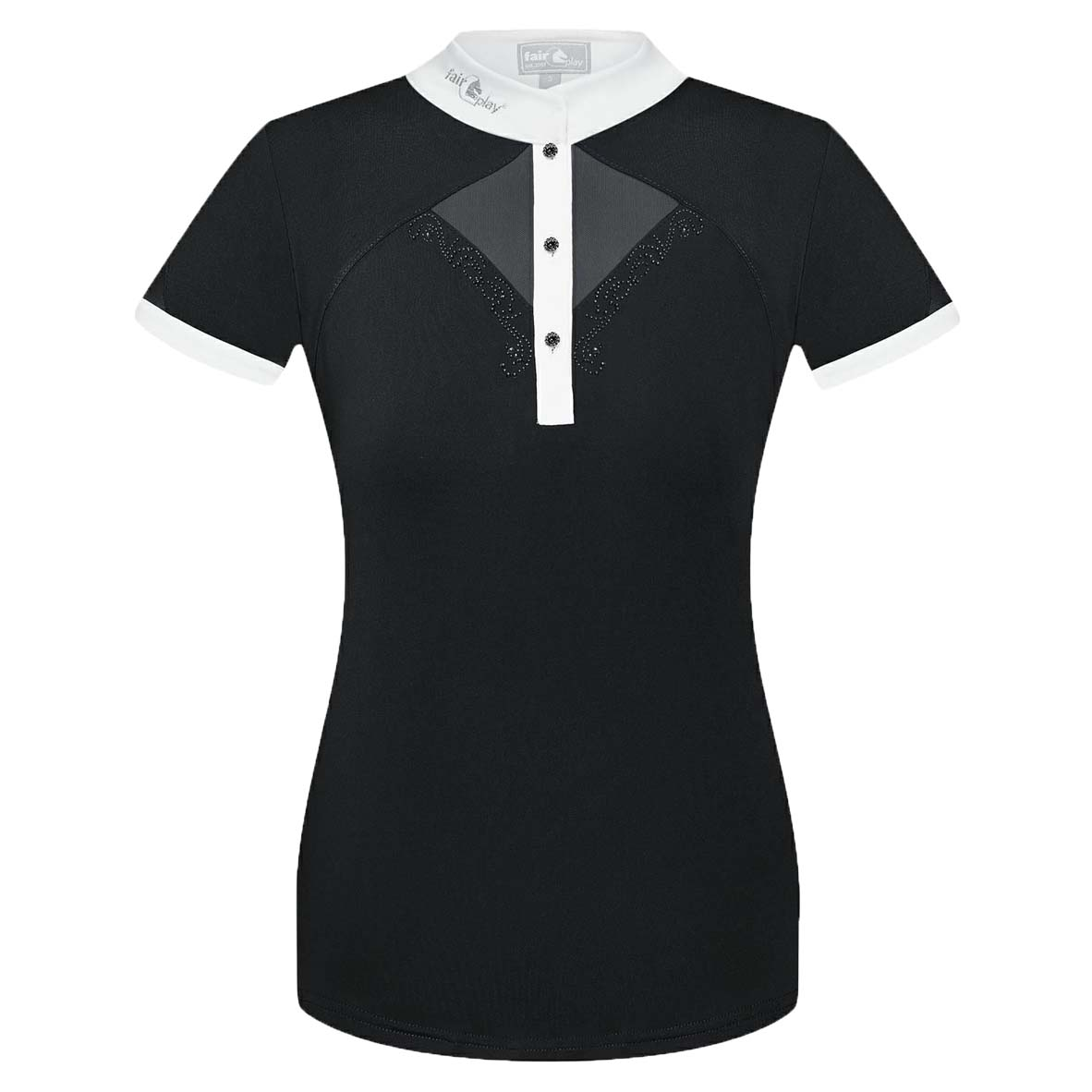 Fair Play Catharine wedstrijdshirt zwart maat:40
