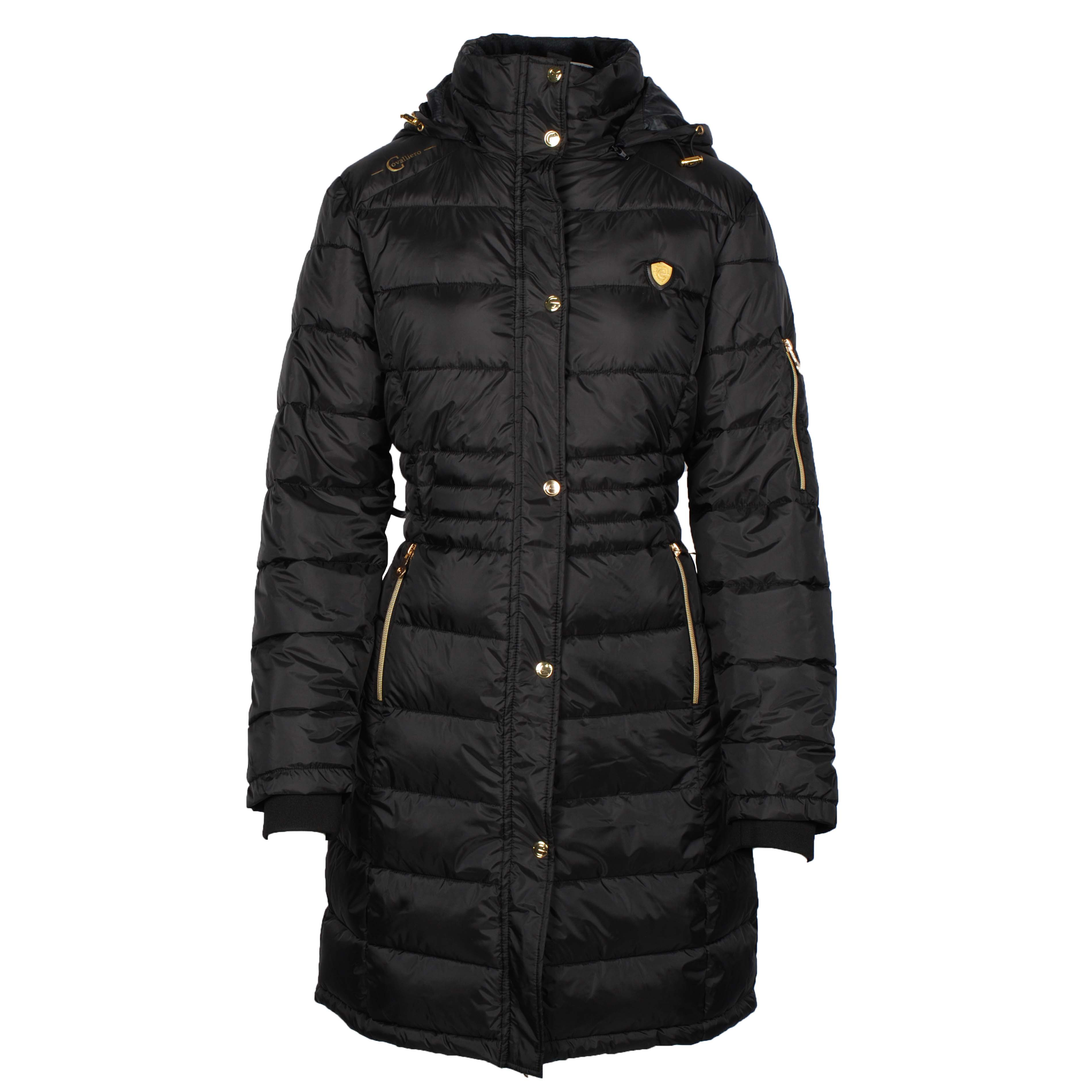 Covalliero Quilted Long jack donkergrijs maat:xl