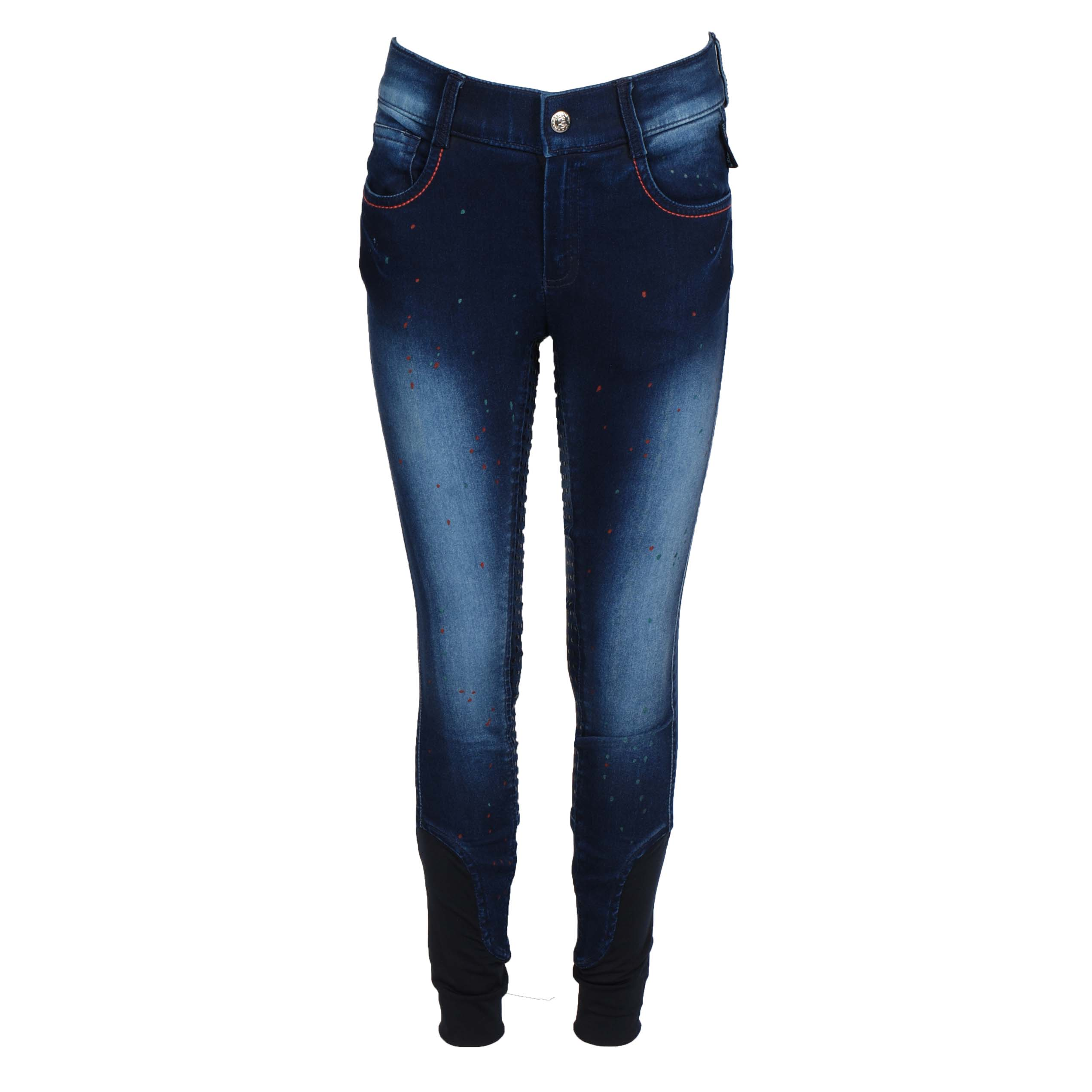 Harrys Horse Loulou Sanddrif FG kinder rijbroek jeans maat:128