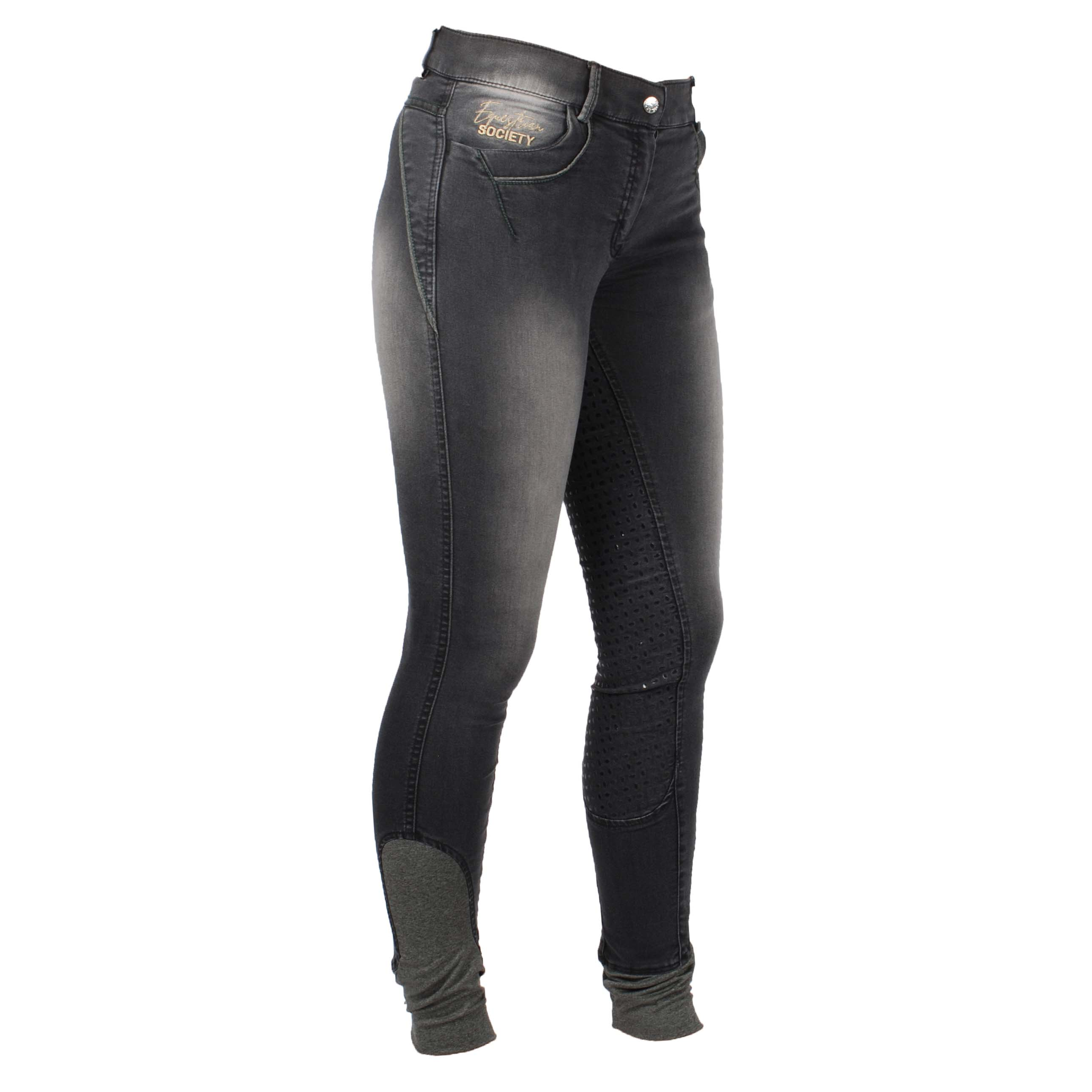 Harrys Horse Greyton FG jeans rijbroek zwart maat:36