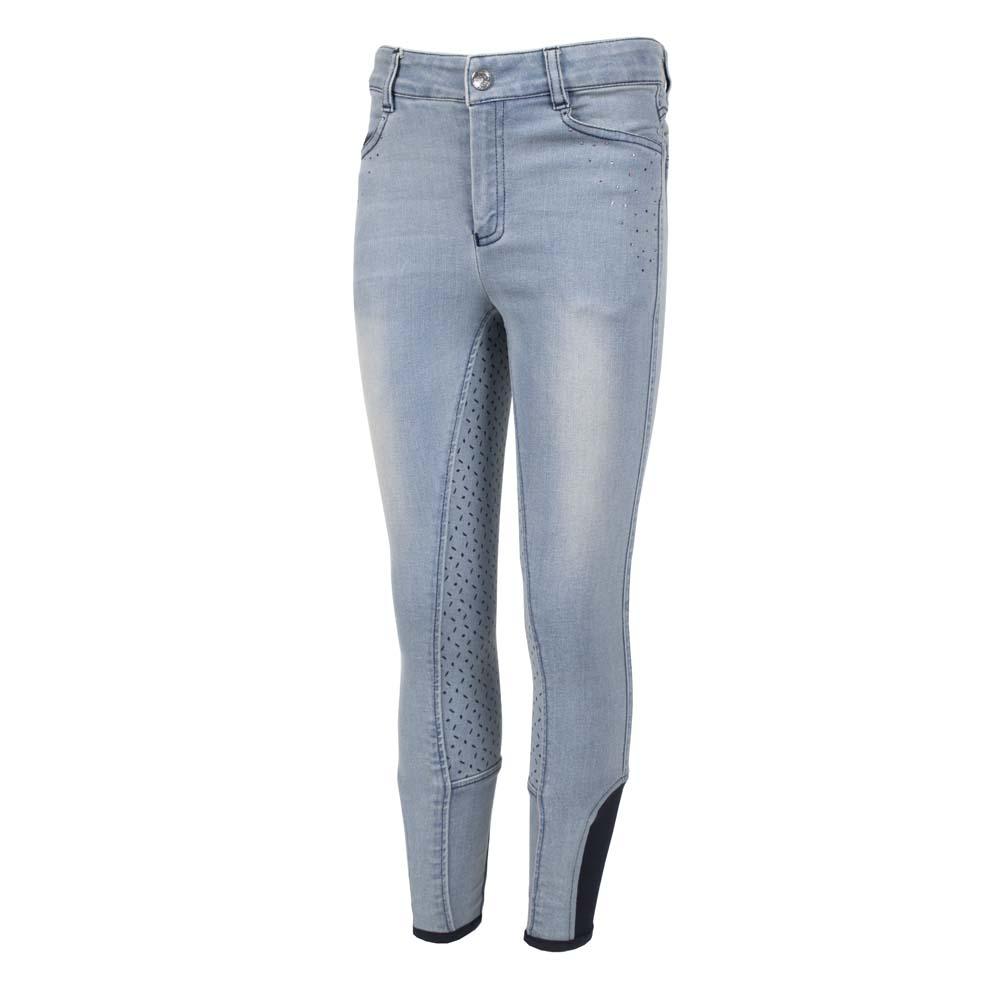 Mondoni Rainbow Spark kinder rijbroek jeans maat:164