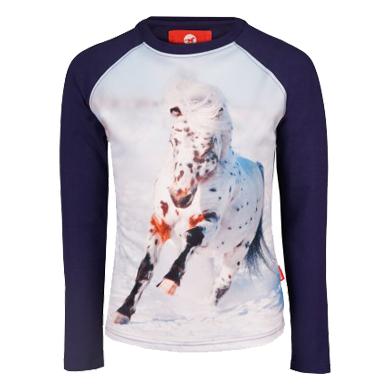 Red Horse Pixel NJ20 kinder shirt donkerblauw maat:128