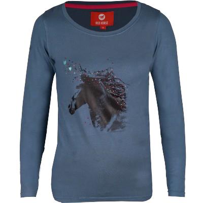 Red Horse Grande NJ20 kinder shirt blauw maat:140