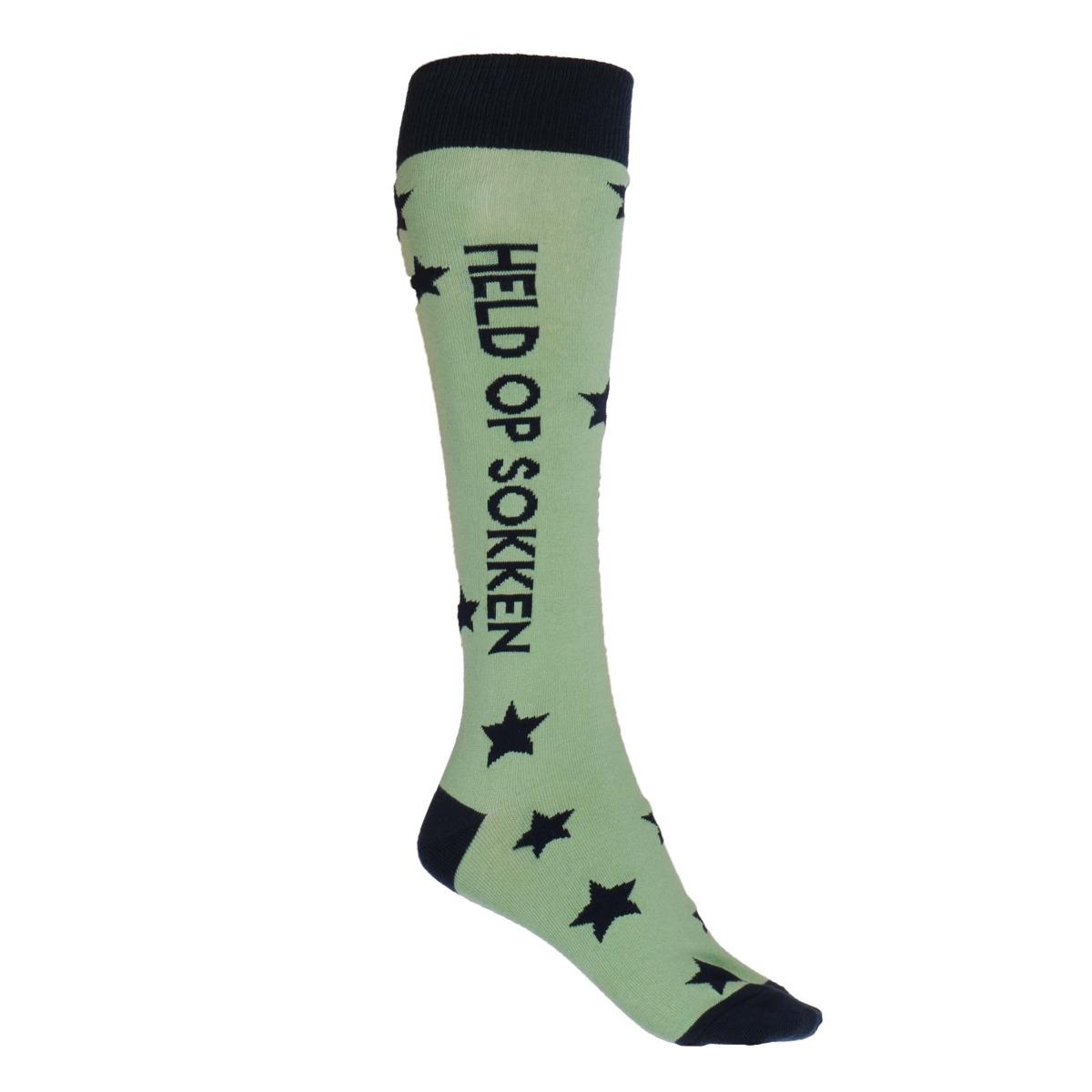 Mondoni Held op sokken kniekousen lichtgroen maat:35-38