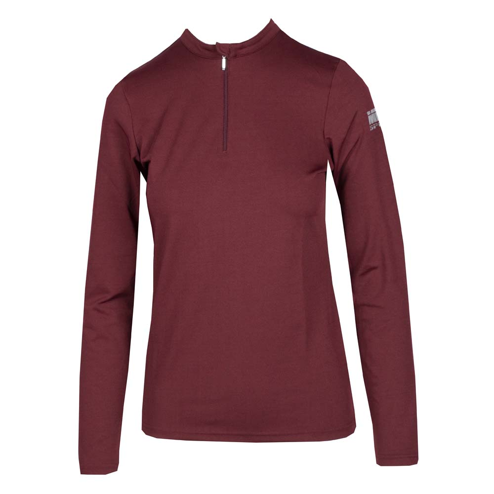 Mondoni Trainingsshirt Active Long Sleeve bordeaux maat:m